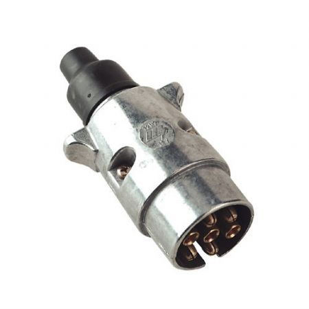 Trailer Plug 7 Pin Metal 12S